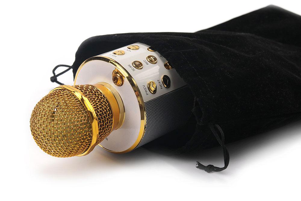 Караоке микрофон детский в бархатном чехле